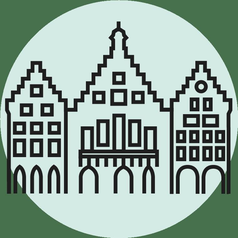 icon vom roemer rathaus in frankfurt